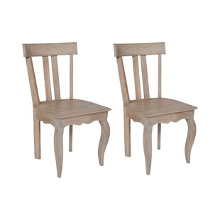 Bridgette Low Back Solid Wood Dining Chair (Set Of 2)