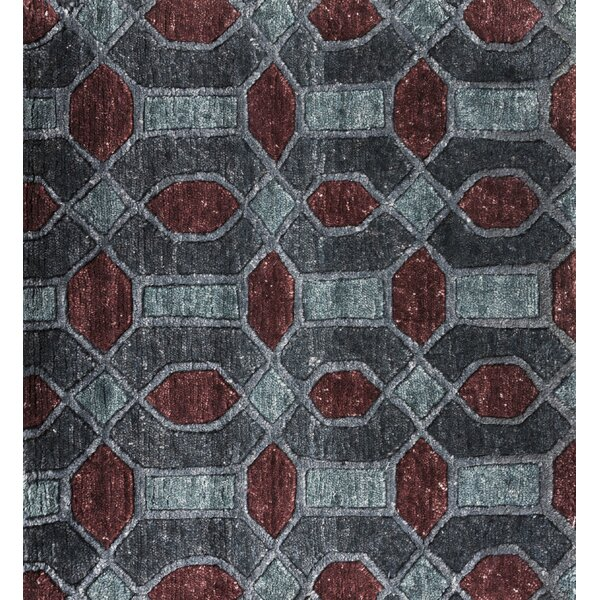 Arline Hand-Knotted Gray/Brown Area Rug by Orren Ellis