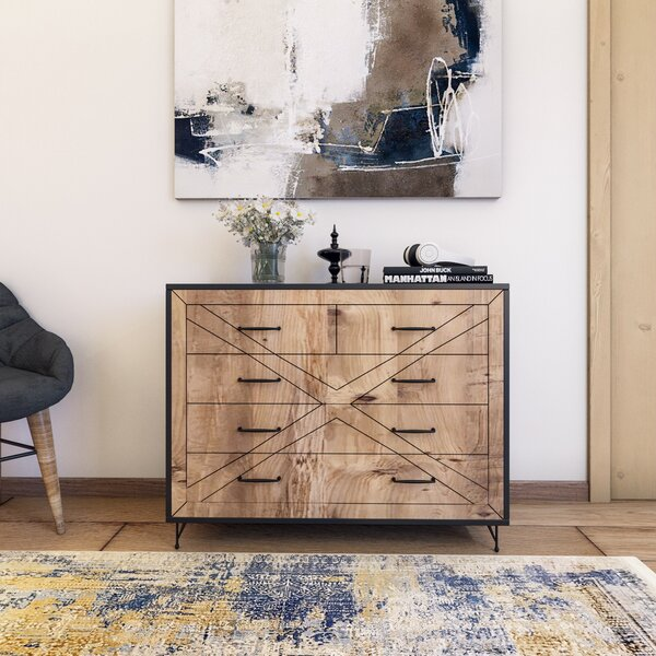 Nutter 4 Drawer Double Dresser by 17 Stories