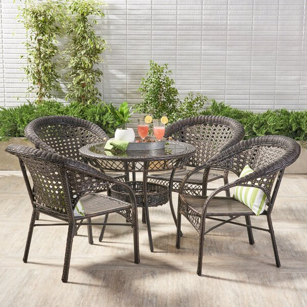 Charis 5 Piece Dining Set by Beachcrest Home