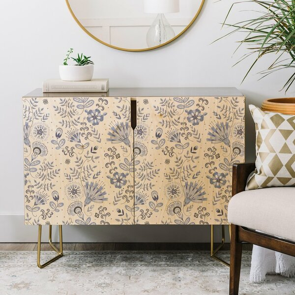 Pimpada Phuapradit Floral Credenza by East Urban Home