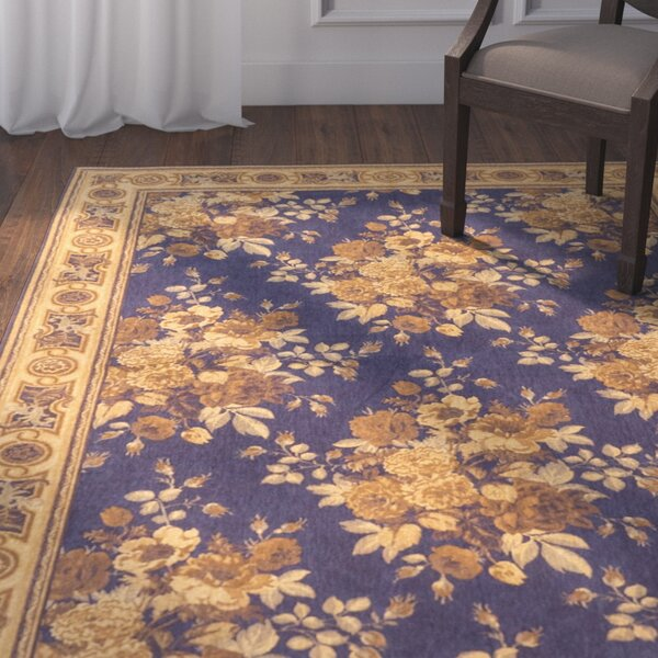 One-of-a-Kind Cerie Handmade Cotton Navy Blue Area Rug by Isabelline