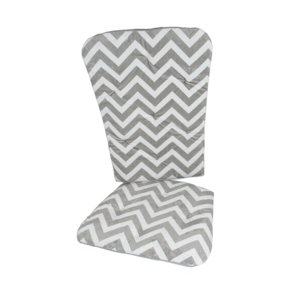 Minky Chevron Rocking Chair Cushion by Baby Doll Bedding