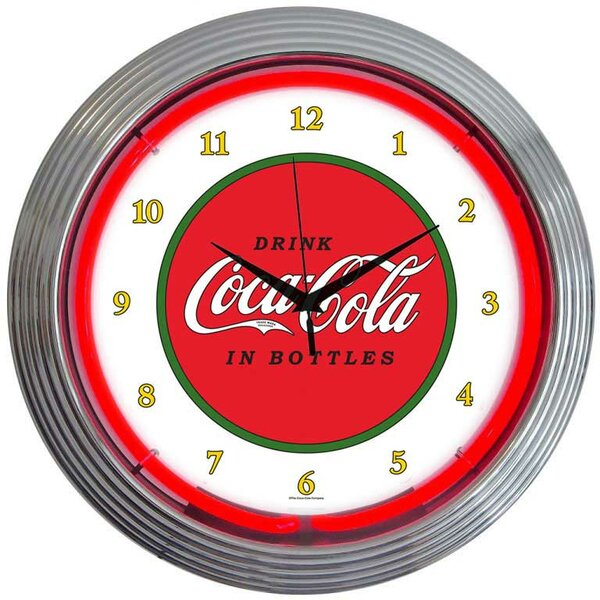 Drinks 15 Coca Cola 1910 Classic Wall Clock by Neonetics