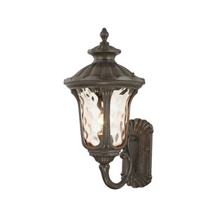 Find the perfect Gurnee Iced Cased Glass 1-Light Outdoor Sconce By Three Posts