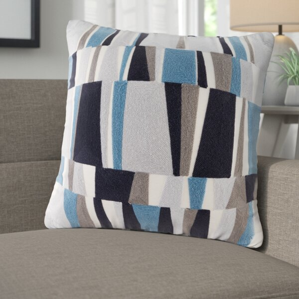 Bendel Embroidered Throw Pillow by Langley Street