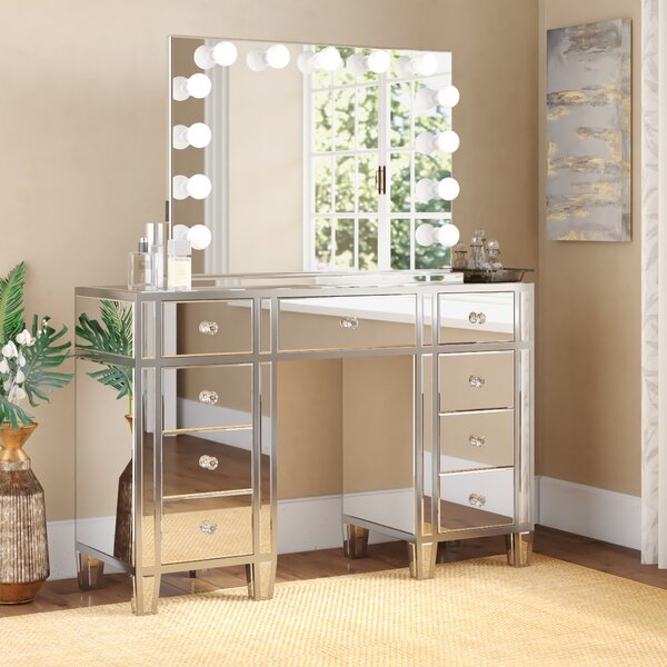 Rockland Vanity Set with Mirror by Rosdorf Park Rosdorf Park