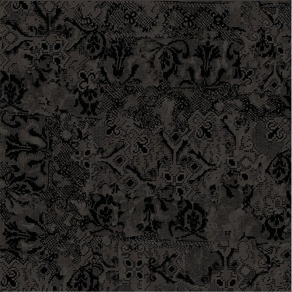 Tapis Noir 23.5 x 23.5 Porcelain Fabric Look Tile in Black by The Bella Collection