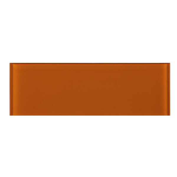 4 x 12 Glass Tile in Orange by Multile