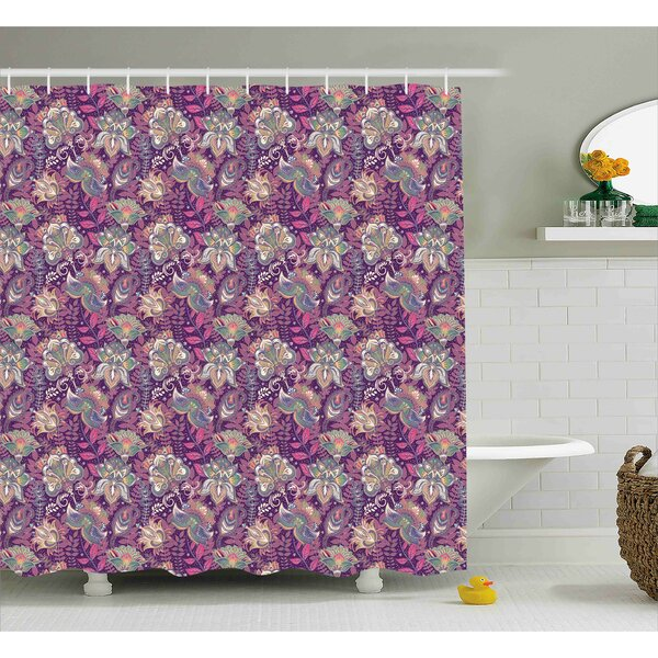 Barr Flowers and Asian Mehndi Shower Curtain by Bloomsbury Market