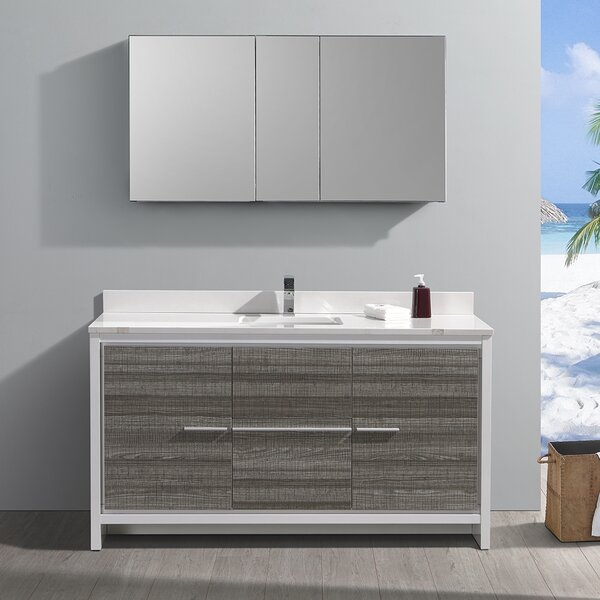 Trieste Allier Rio 60 Single Bathroom Vanity Set by Fresca