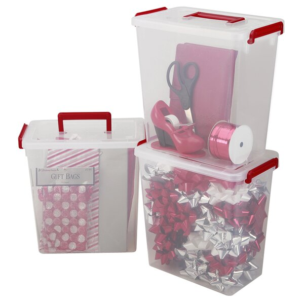 Holiday Gift Wrap Storage (Set of 3) by IRIS USA, Inc.