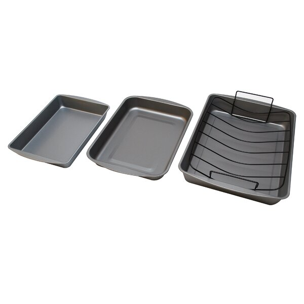 Non-Stick 4 Piece Bake and Roast Set by OvenStuff
