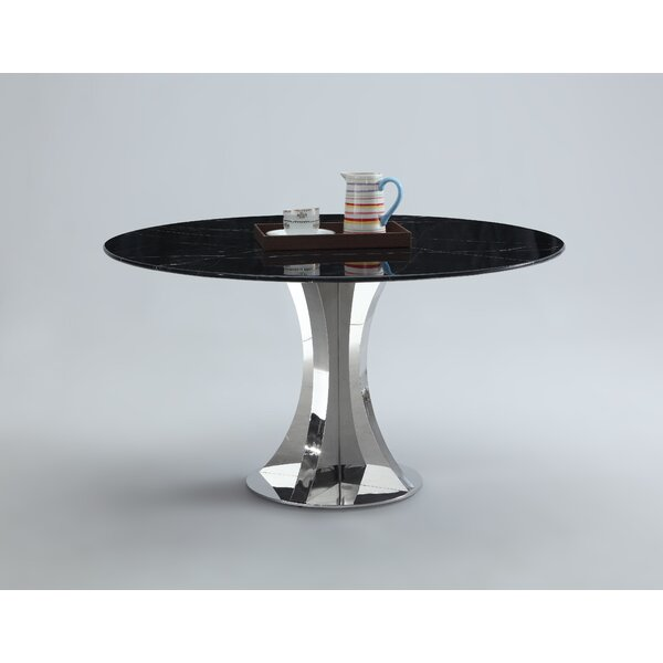 Shequita Marble Dining Table by Orren Ellis
