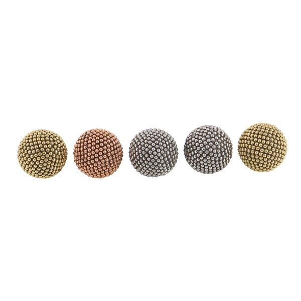 5 Piece Inlays Decorative Ball Set by Cole & Grey