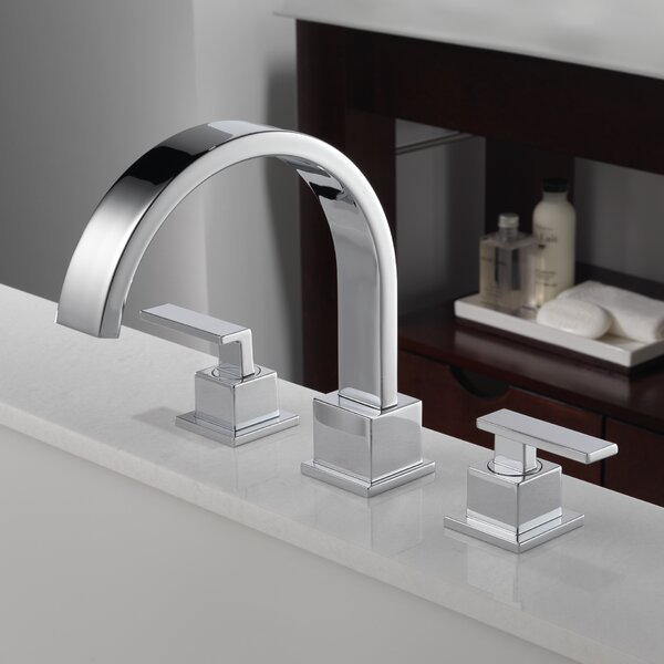 Vero Double Handle Deck Mount Roman Tub Faucet Tri