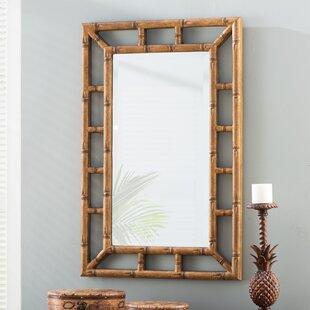 Cleta Bamboo Brown Wall Mirror
