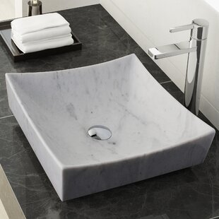 Check Prices Benton Stone Square Vessel Bathroom Sink By Maykke