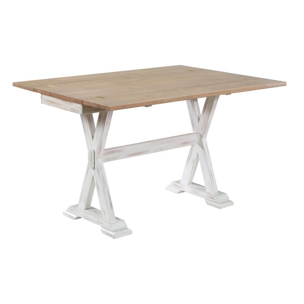 Review Tianna Foldover Leaf Console Table
