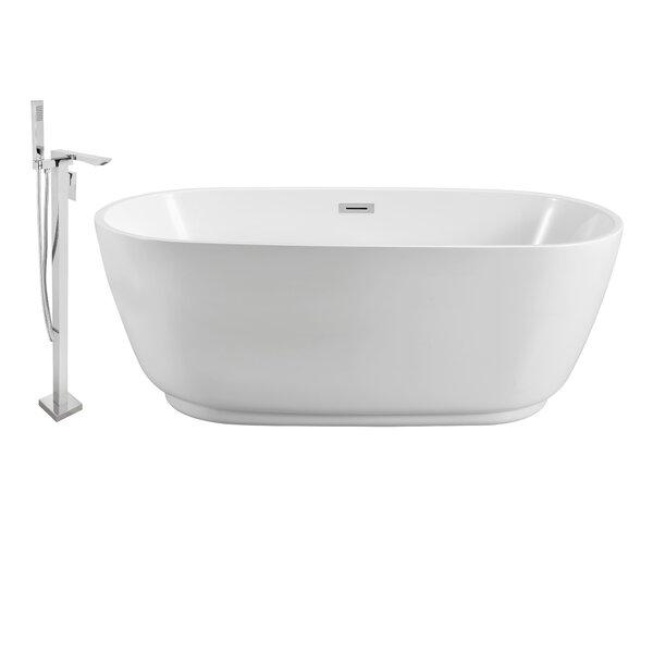 59 x 22 Freestanding Soaking Bathtub by Wildon Home ®
