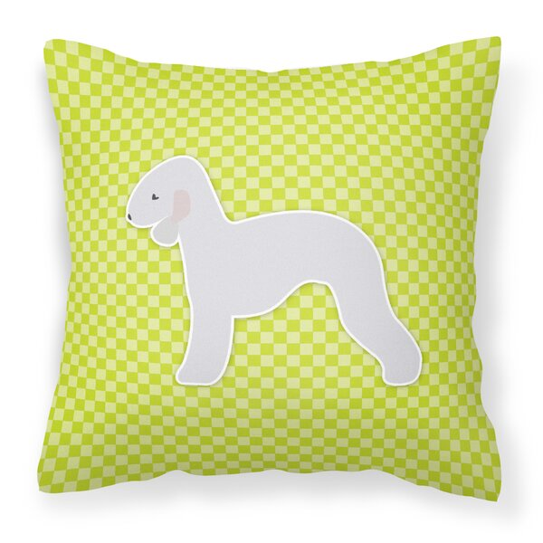 Bedlington Terrier Square Indoor/Outdoor Throw Pillow by East Urban Home