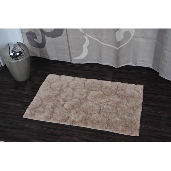 Prestige Stone Rectangular Soft Bath Rug by Evideco