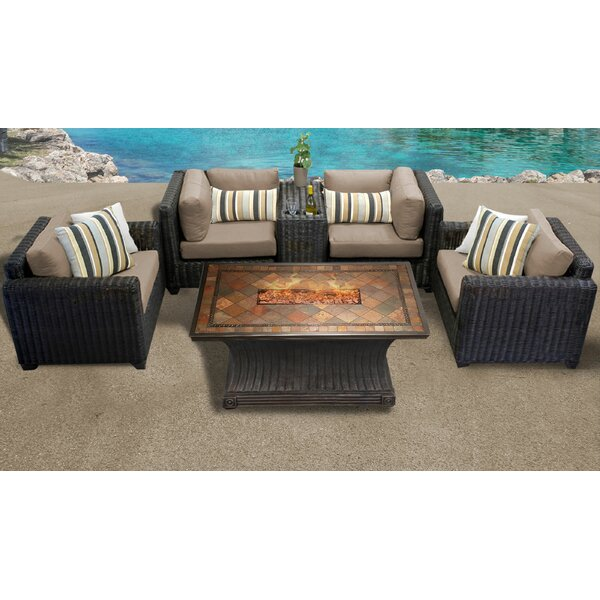 Mejia 6 Piece Sofa Seating Group with Cushions by Rosecliff Heights