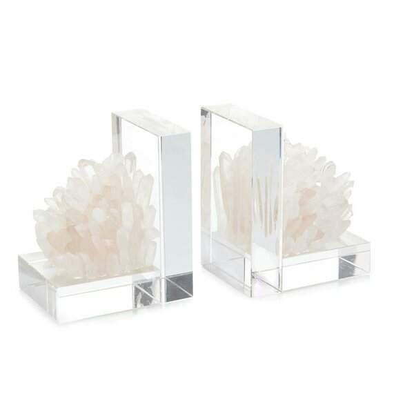 Quartz Crystal Bookends (Set of 2) by John-Richard