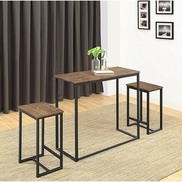 SaintCroix 3 Piece Dining Set By Union Rustic