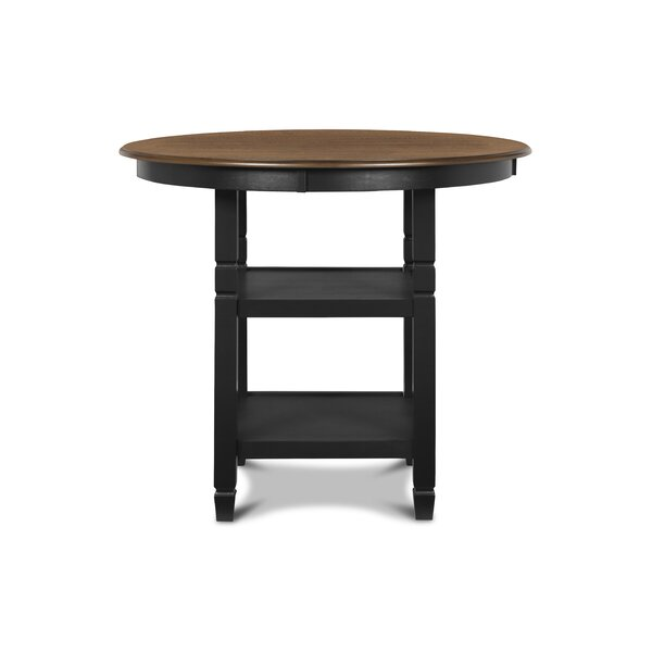 Borodale Counter Height Solid Wood Dining Table by August Grove August Grove