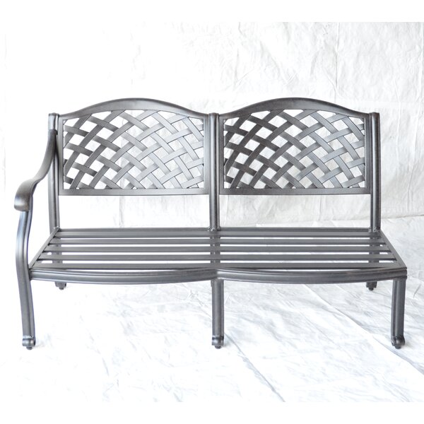 Nola Right Arm Aluminum Garden Bench by Darby Home Co