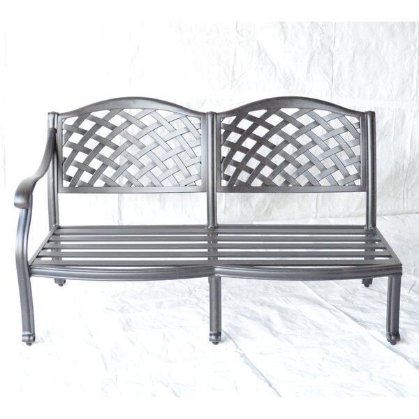 Nola Right Arm Aluminum Garden Bench by Darby Home Co