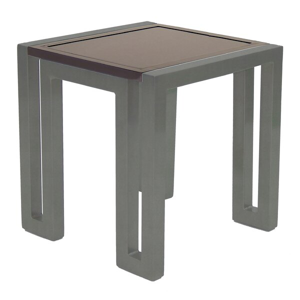 Icon Square Aluminum Side Table by Leona