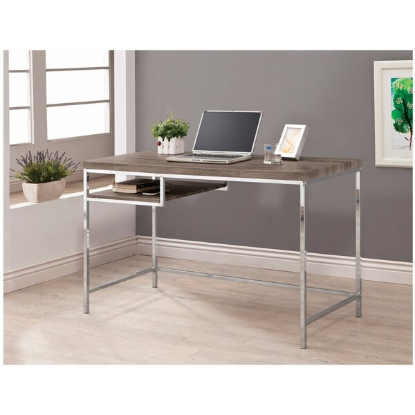 Bobek Sleek and Elegant Desk with Shelf by Ebern Designs