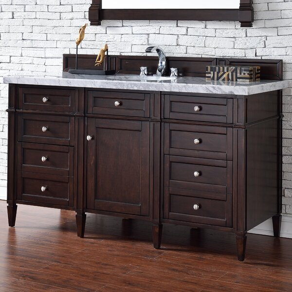 Deleon Traditional 60 Single Burnished Mahogany Bathroom Vanity Set by Darby Home Co