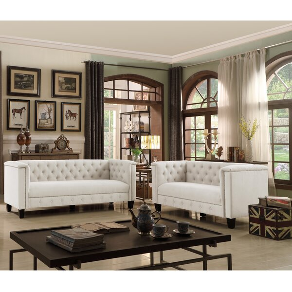 Hillside Chesterfield 2 Piece Living Room Set by Canora Grey