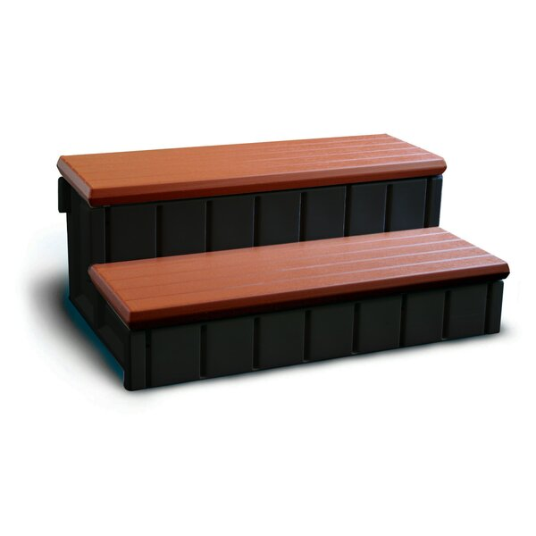 Spa Step with Storage in Redwood by Confer Plastics