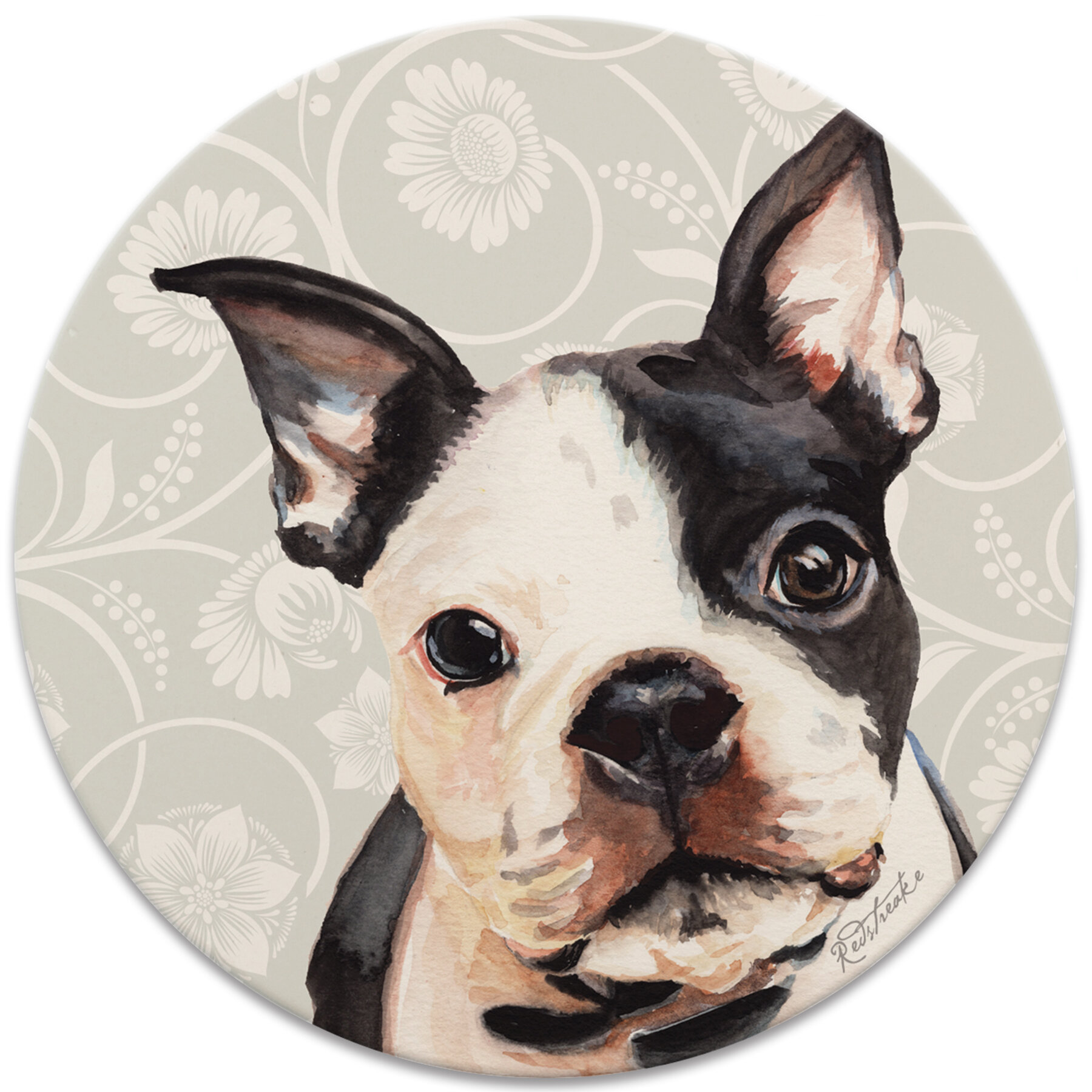 Red Barrel Studio Boston Terrier Coaster Wayfair