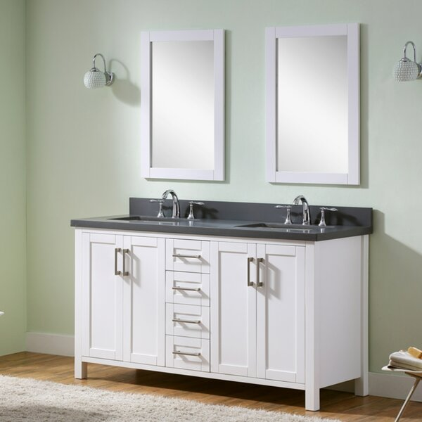 Hodgeman 60 Double Vanity Set with Mirror by Latitude Run