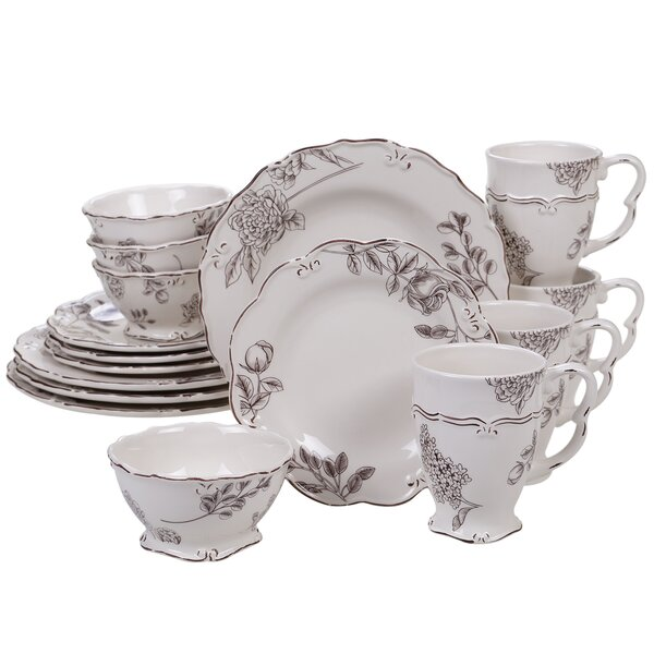 Screven Vintage 16 Piece Dinnerware Set, Service for 4 by Ophelia & Co.