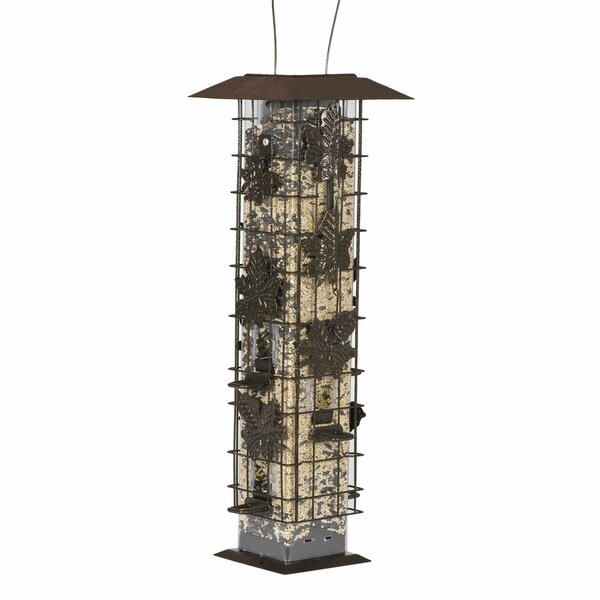 Squirrel Be Gone Caged Tube Bird Feeder (Set of 2) by Perky Pet