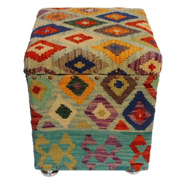 Ranier Kilim Storage Ottoman by World Menagerie