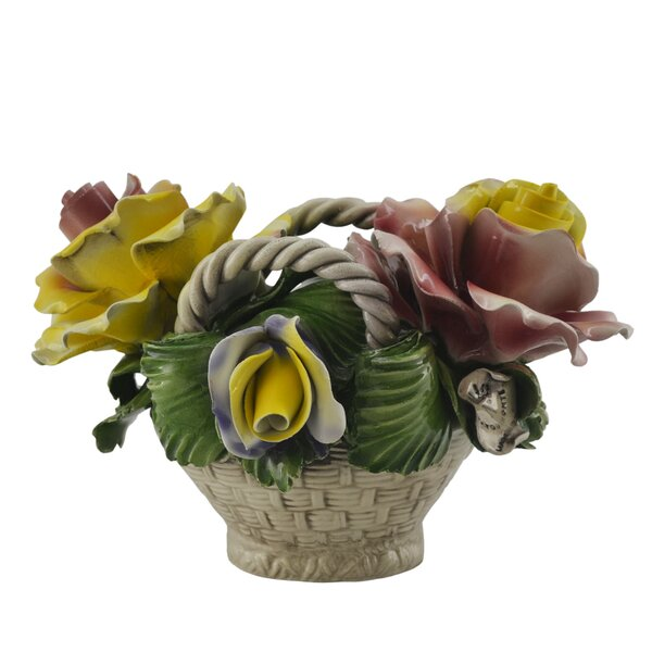 Oval Ceramic Flower Basket by August Grove