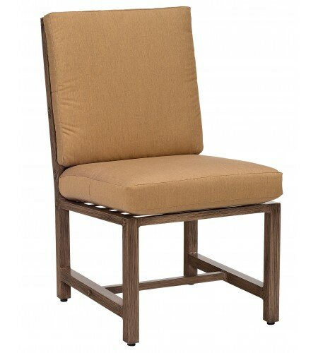 Woodlands Patio Dining Chair with Cushion by Woodard