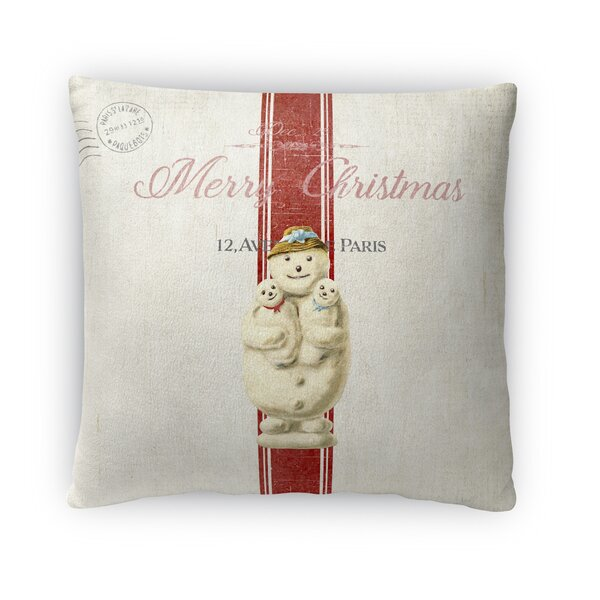 Marineth Snow Man Outdoor Throw Pillow by Red Barrel Studio