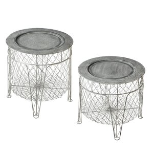 Pyrenees 2 Piece End Table Set (Set of 2) by One Allium Way