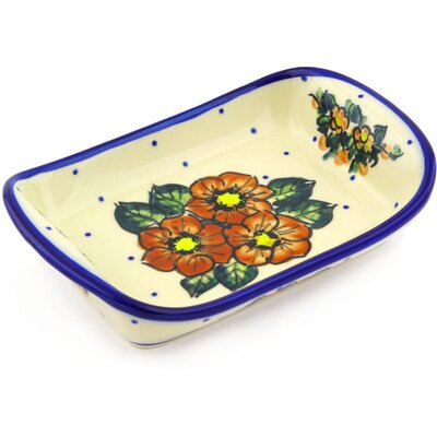 Polish Pottery 7 Rectangle Platter by Polmedia