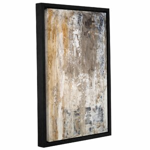 'Stone Abstract III' Framed Graphic Art Print on Canvas by Trent Austin Design
