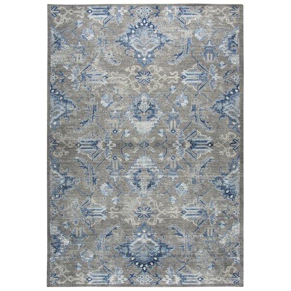 Corban Power Loom Wool Gray/Blue Rug