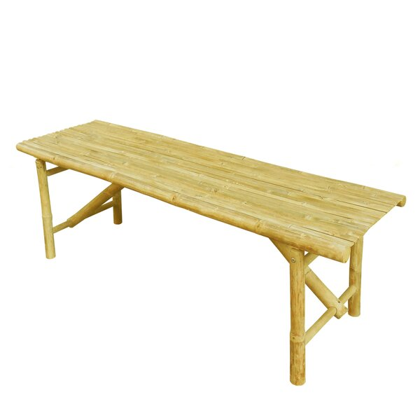 Prastio Bamboo Slat Design Picnic Bench by Bay Isle Home Bay Isle Home